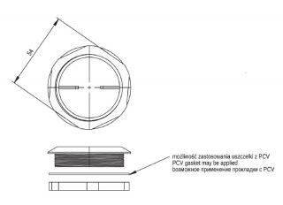 Заглушка М50х1.5